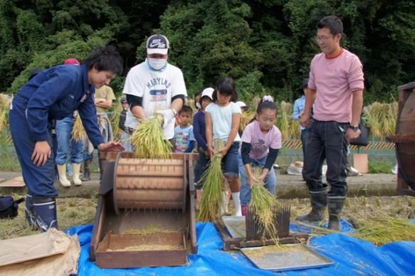 過去に実施した「稲刈り体験」の様子