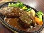 ハンバーグ&ビーフシチュー! ライス・カップスープ付:1500円(税抜)